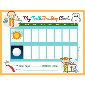 I Brushed My Teeth This Week Chart (Fillable)