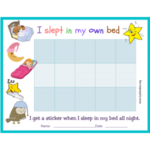 I Slept in My Own Bed Sticker Chart (Fillable)