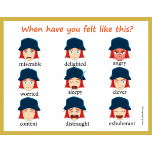 Intermediate When Have You Felt Like This Feelings Chart