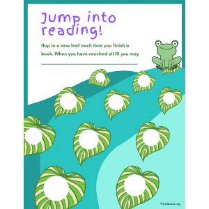Jump Into Reading Chart (Fillable)