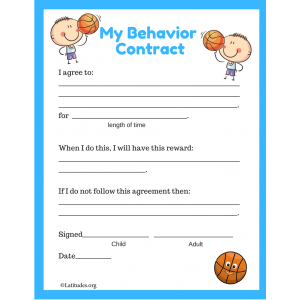 My Basketball Behavior Contract
