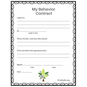 My Behavior Contract Tree Style