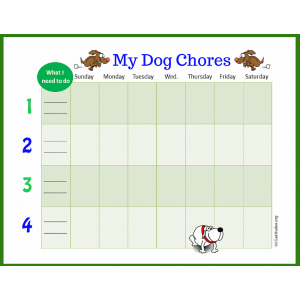 My Dog Weekly Chores Chart