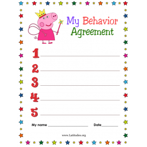 My Peppa Pig Behavior Agreement (Fillable)