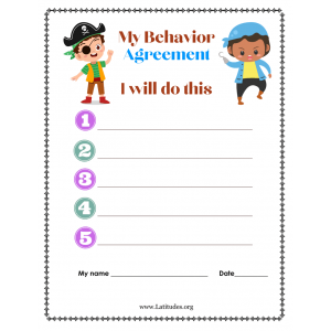 My Pirate Behavior Agreement (Fillable)
