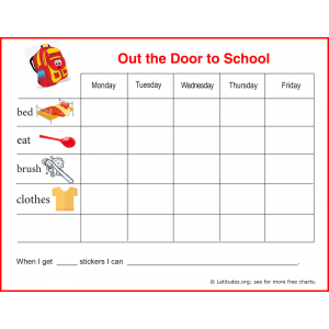 Out the Door Sticker Reward Chart (Fillable)