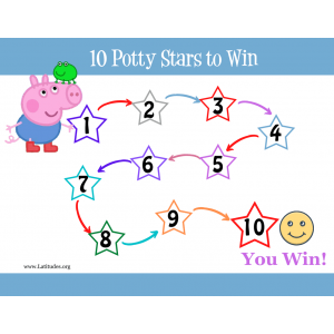 Peppa Pig 10 Potty Stars to Win Potty Training Chart