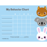 Preschool Animals Behavior Chart (Fillable)