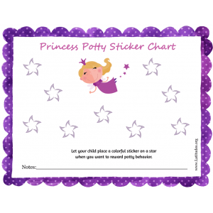 Princess Potty Training Sticker Chart (Fillable)