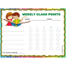 Readers Weekly Class Points Behavior Chart (Fillable)