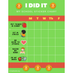 Smiley I Did It Weekly PreK Behavior Chart