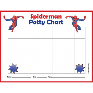Spiderman Potty Training Chart (Fillable)