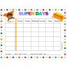 Super Days Weekly Behavior Chart (Fillable)