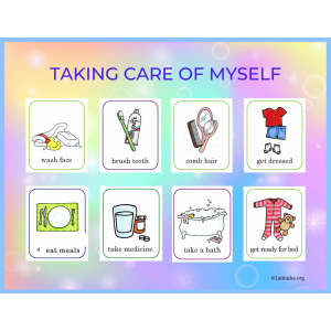Taking Care of Myself Printable Poster