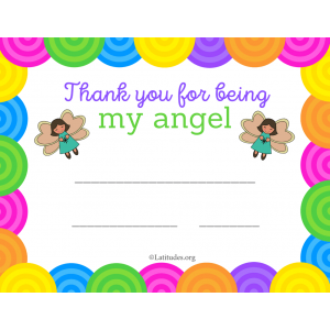 Thank You for Being My Angel Award (Fillable)