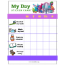 Trolls My Day Weekly PreK Sticker Chart