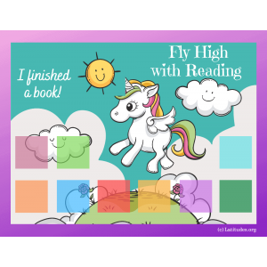 Unicorn Fly High with Reading Chart