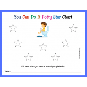 You Can Do It Potty Training Star Chart (Fillable)